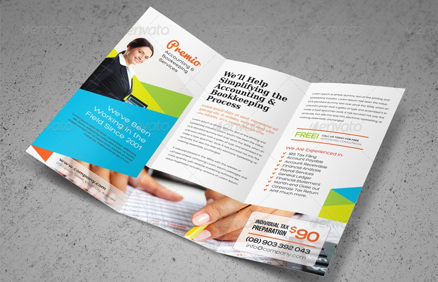 accounting bookeeping service brochure