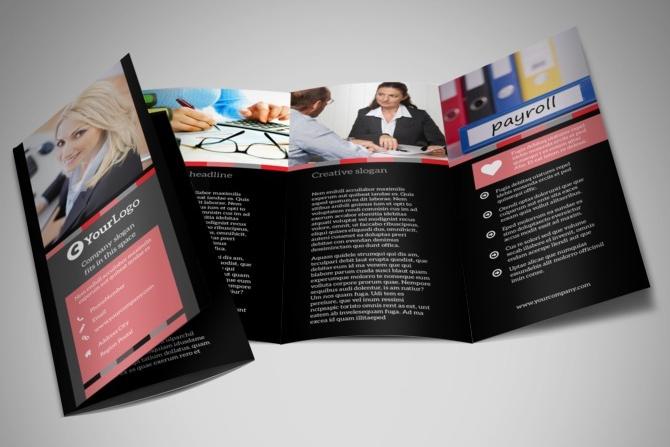 accounting service tri fold brochure