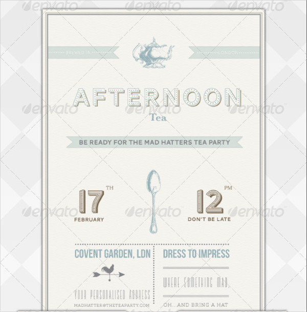 11 tea party invitations free psd png vector eps for Morning tea invitation template free