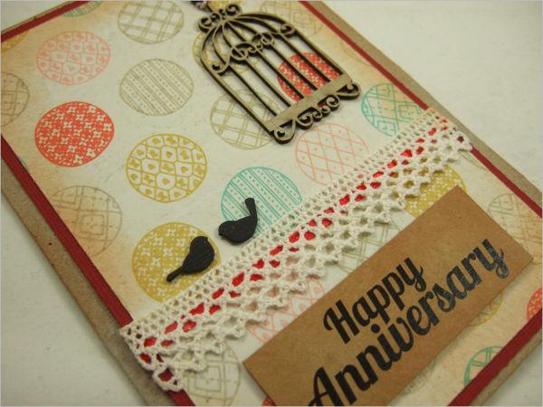 anniversary handmade greeting card