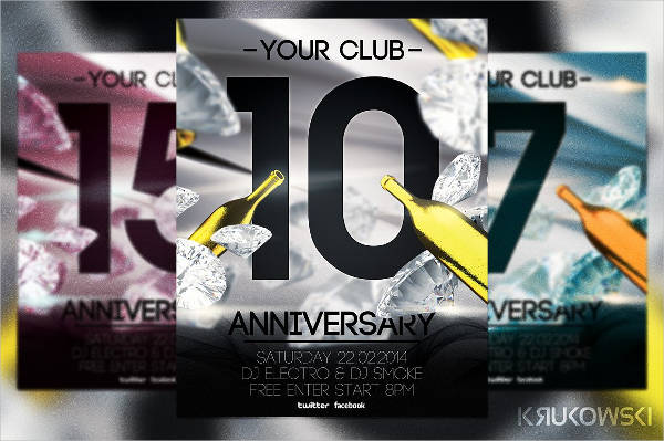 anniversary party invitation flyer