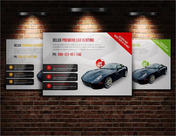automotive business horizontal flyer