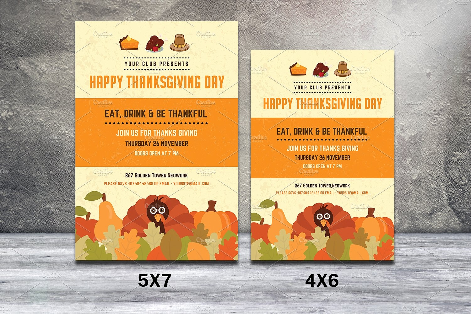 autumn thanks giving flyer