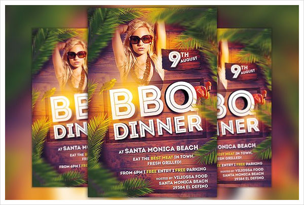bbq dinner invitation flyer