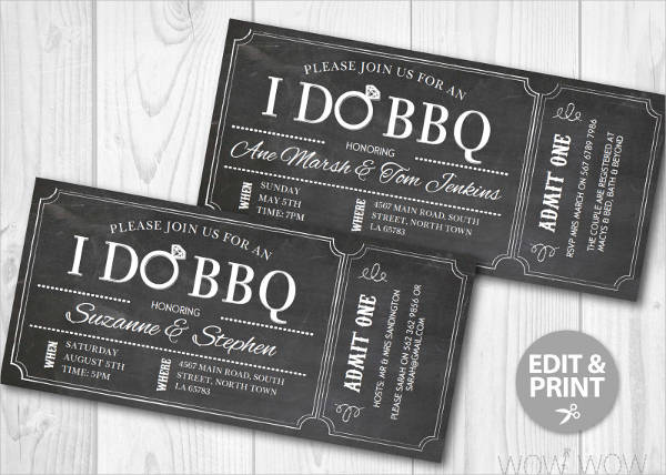 70 ticket templates for Bbq ticket template free