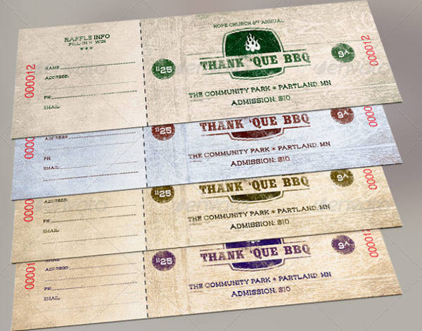 bbq tickets template - bbq fundraiser tickets samples bing images