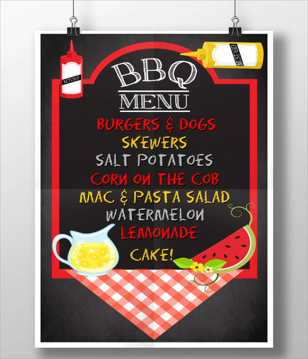 bbq lunch party menu template2