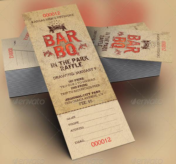 bbq raffle ticket template1