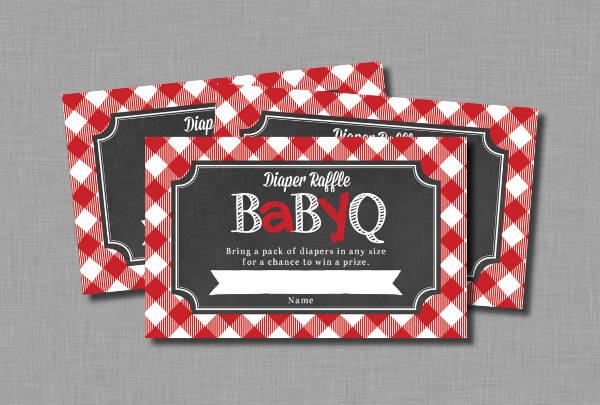 bbq raffle ticket template