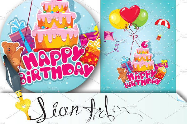baby birthday card with bear1