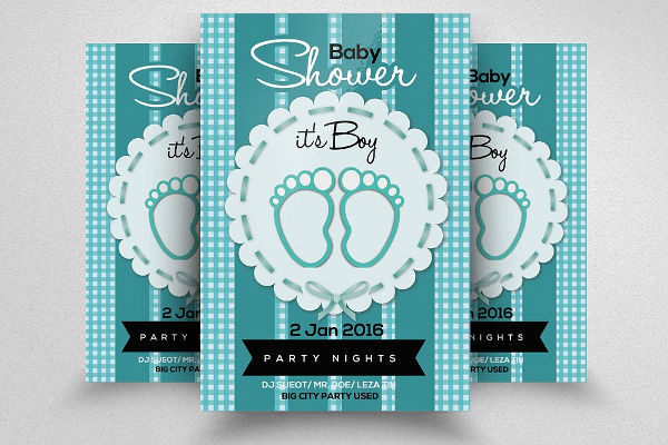 baby boy shower invitation flyer