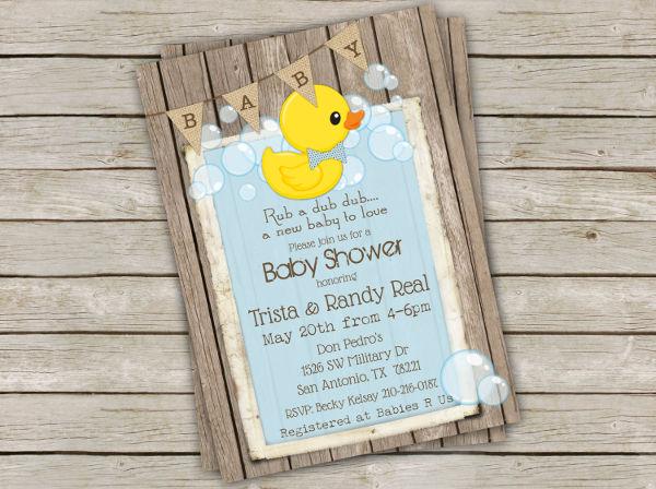 baby shower duck invitation banner1