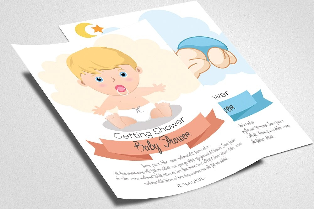 baby shower psd invitation