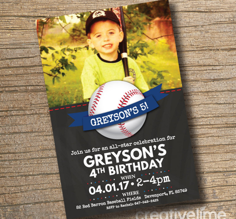 baseball birthday party invitation1