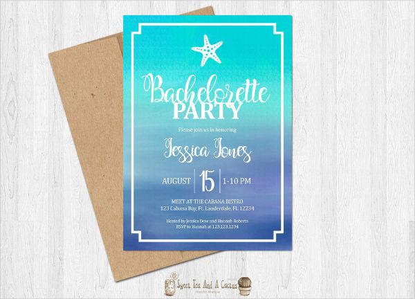 beach bachelorette party invitation