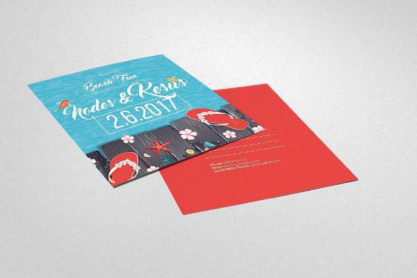 beach party postcard invitation1