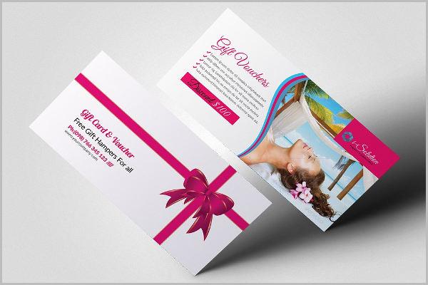 beauty gift voucher design