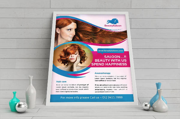 beauty salon business flyer