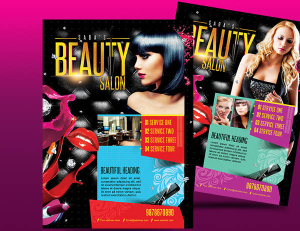 beauty salon business flyer2