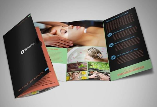 beauty salon service brochure