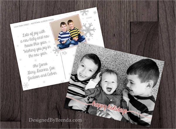 best holiday postcard template