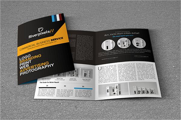 bifold a4 business brochure