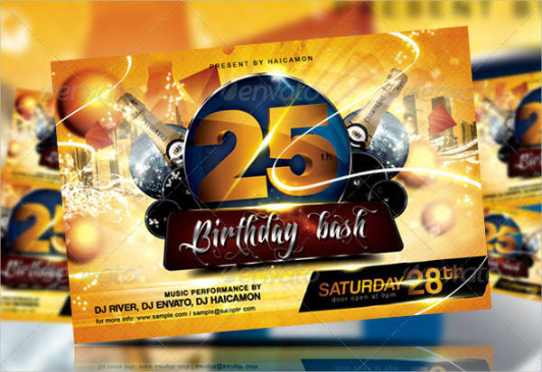 birthday bash invitation flyer
