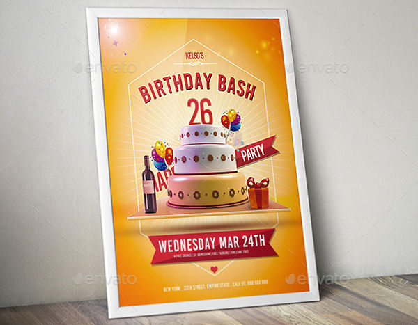 birthday bash invitation flyer1