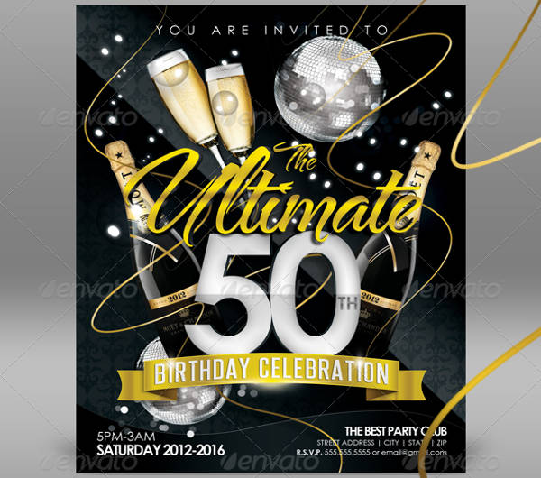 birthday club invitation flyer