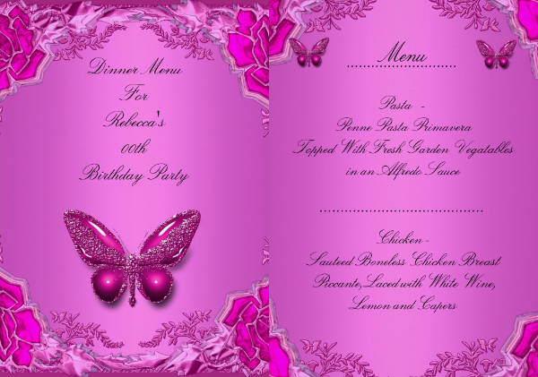 birthday dinner menu template2