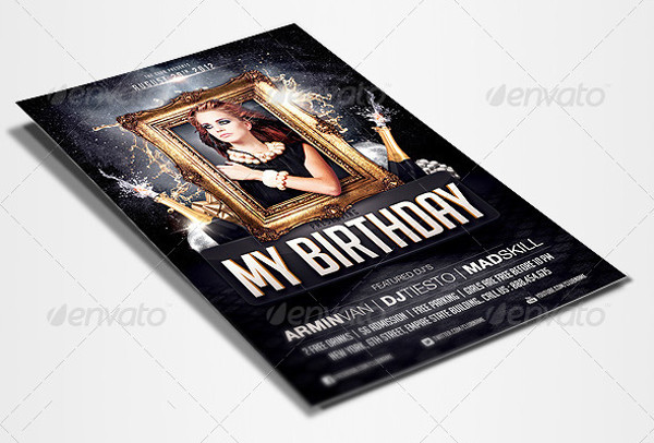 birthday invitation flyer psd