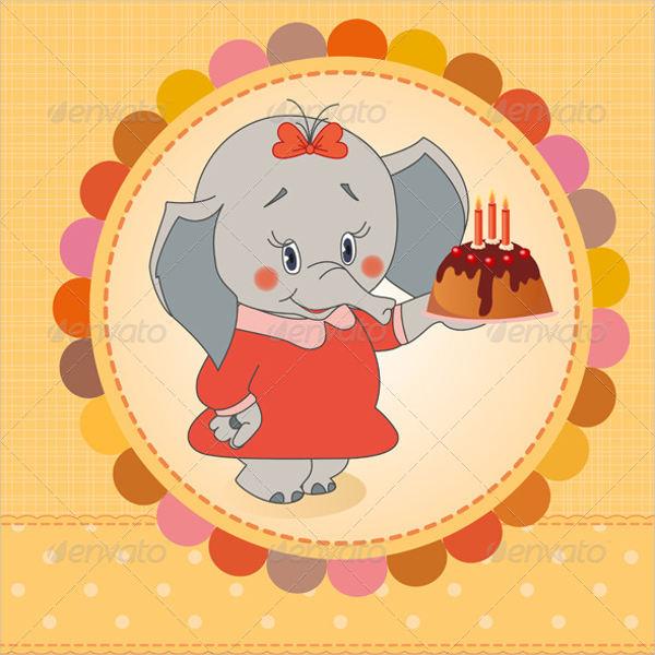 birthday party card vector