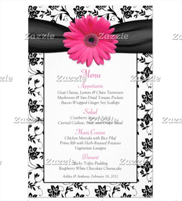 birthday party menu card1