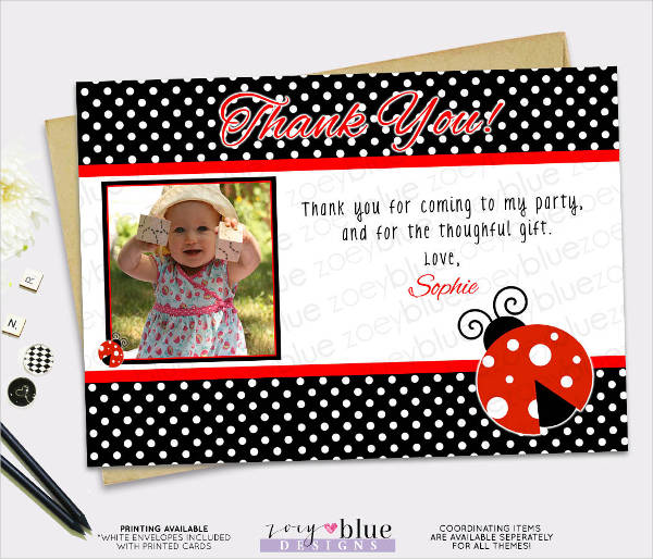 birthday thank you greeting card