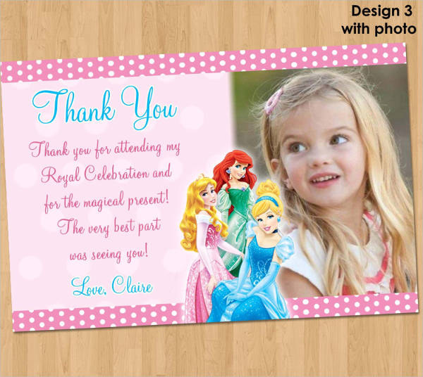 birthday thank you note card