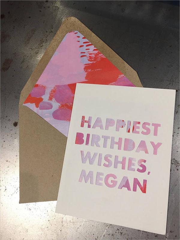 birthday wish message card