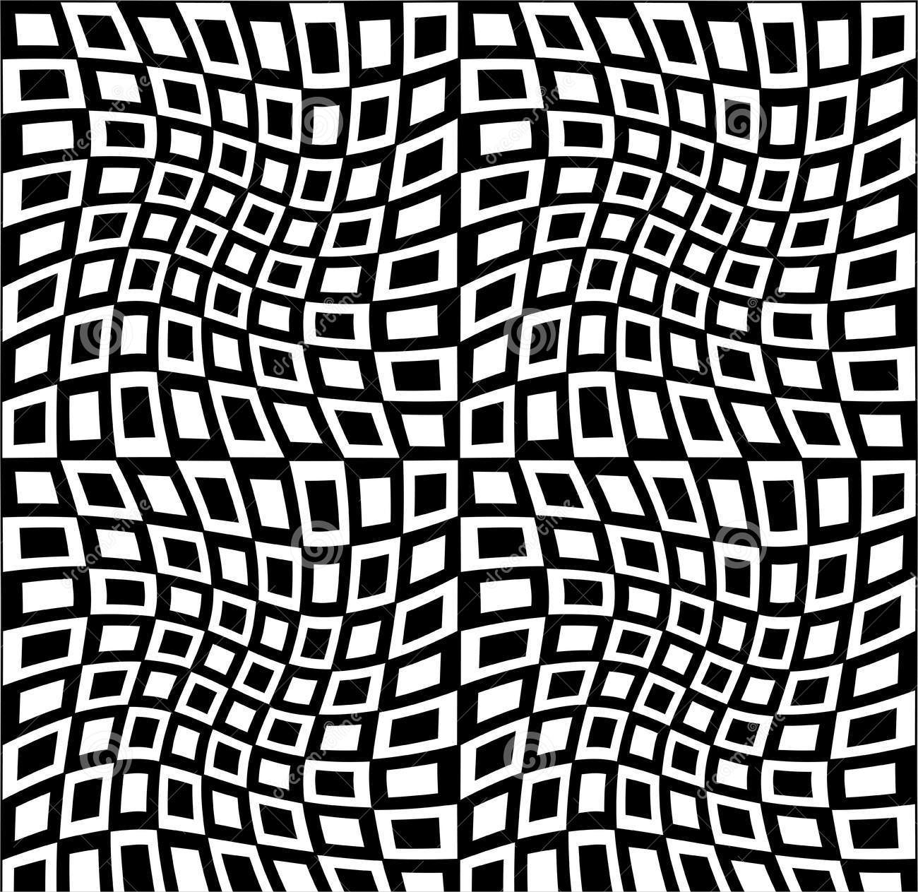black and white trippy pattern