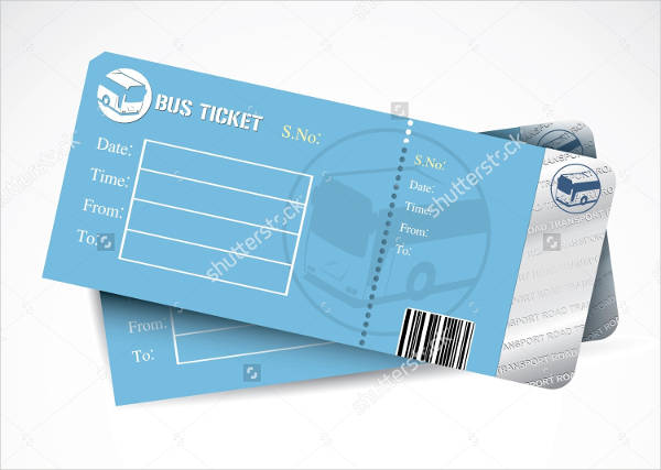 blank bus ticket template