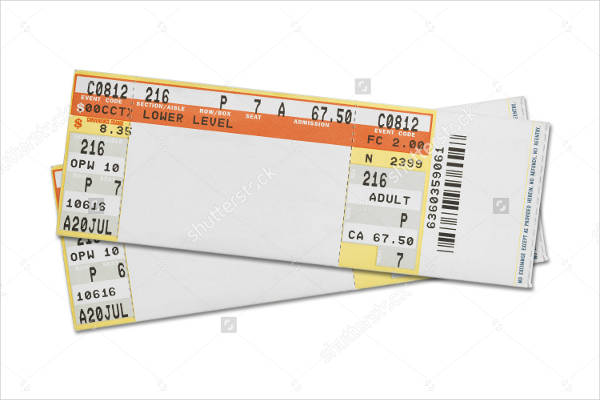 free concert ticket template - 28 images - free concert ...