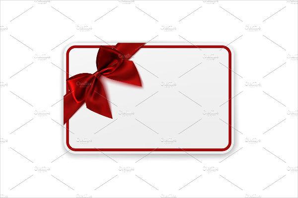 blank envelope gift card