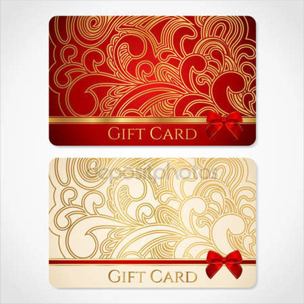 blank label gift card template
