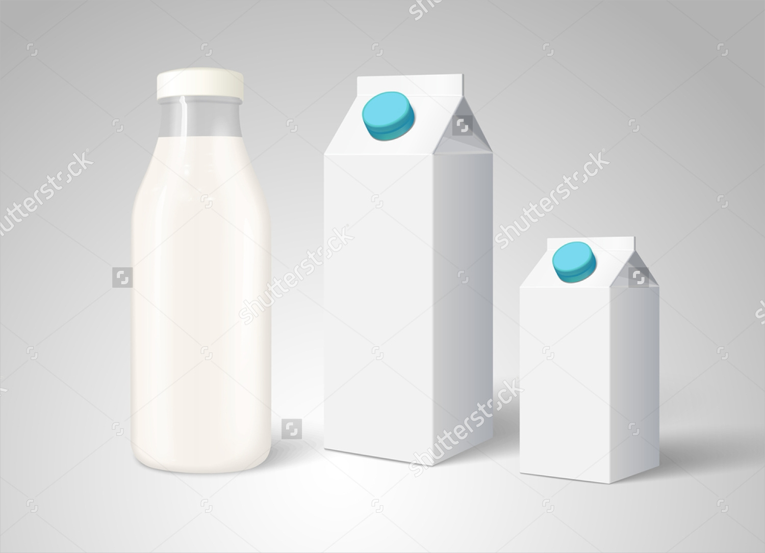 blank milk bottle