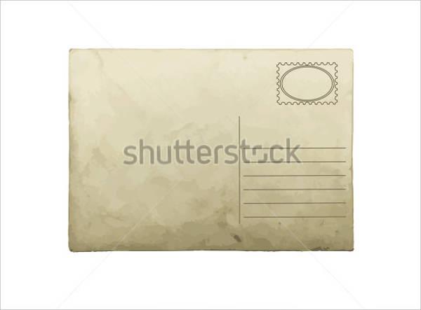 blank postcard in simple look