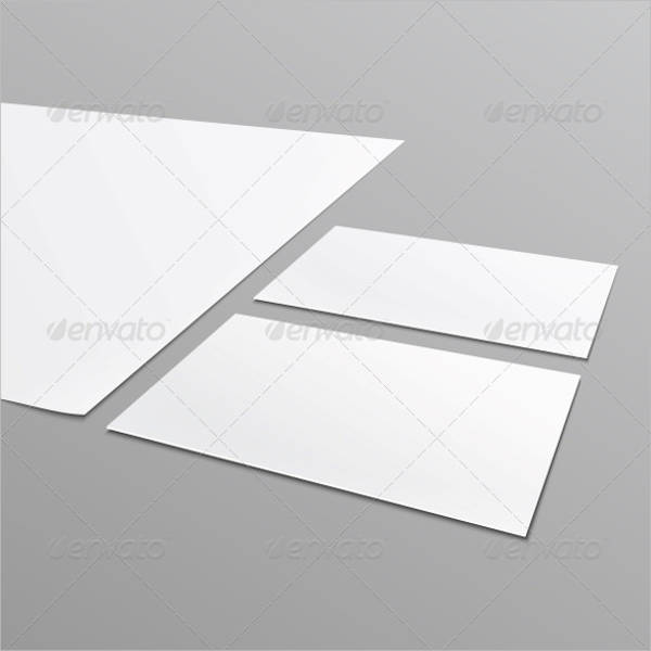 blank stationery layout business card