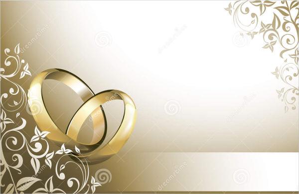 blank wedding menu card