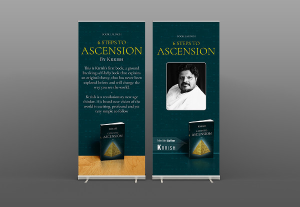 book launch event banner