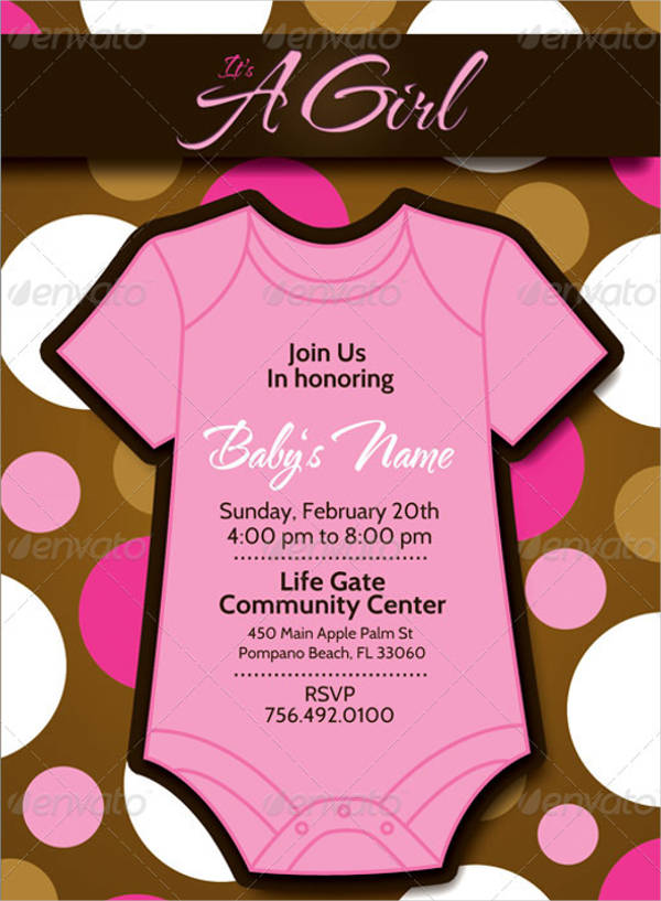 boy girl baby shower invitation