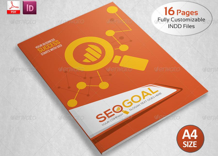 brand seo service bi fold brochure