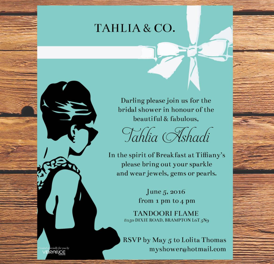 bridal shower breakfast invitation