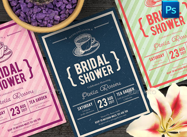 bridal shower party invitation